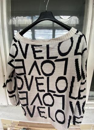 Теплий светр з буквами