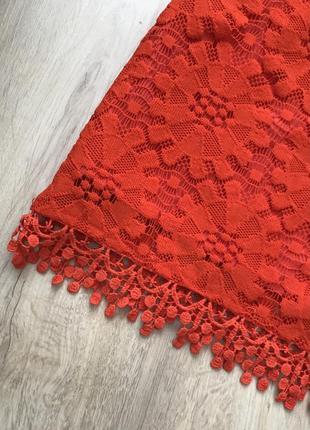 Красное платье / червоне плаття / гипюровое платье2 фото