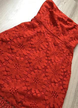 Красное платье / червоне плаття / гипюровое платье4 фото