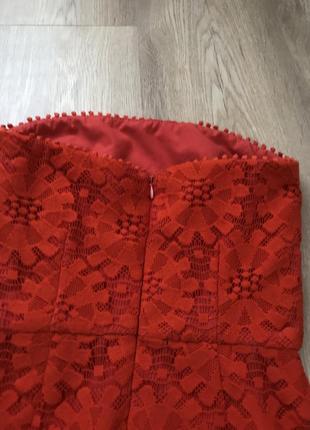 Красное платье / червоне плаття / гипюровое платье8 фото