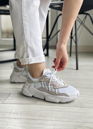 Шикарные кроссовки унисекс adidas originals ozweego наложка