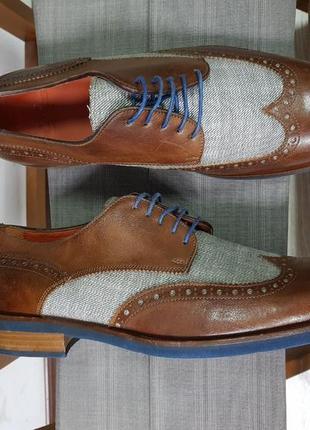 Мужские стильные туфли ручной работы 42 flecs made in italy
