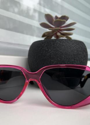 Очки солнцезащитные , розовые леопард