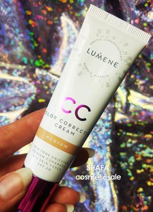 Cc крем lumene тональный крем cc color correcting cream оттенок medium