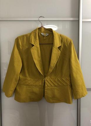 Льняной пиджак marks&spencer