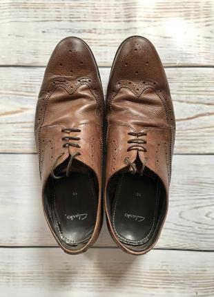 Мужские кожаные натуральные туфли лоферы clarks