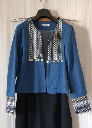 Пиджак в стиле бохо, этника