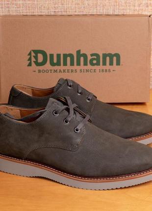 Мужские премиум туфли оксфорд dunham clyde plaintoe. натуральная кожа