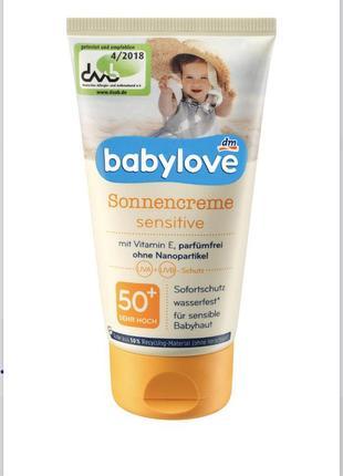 Сонцезахисний крем для дітей  babylove sensitiv spf 50+
