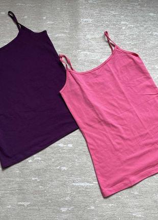 Майка  хлопок фиолетовая и розовая esmara цена за набор