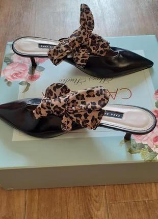 💥💥💥эксклюзив!!! натуральные кожаные туфли,мюли от zara. производство испания! новые!