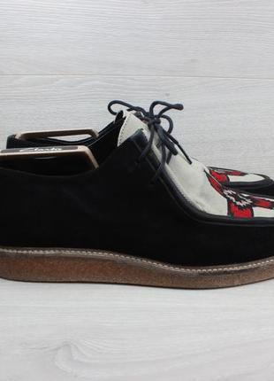 Мужские туфли с узором вышивкой asos, размер 43