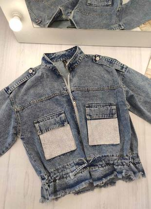 Классные джинсовые курточки с камушками
