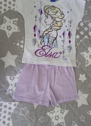 Летний костюм пижама ельза холодное сердце 5-6 лет (110-116 см)
