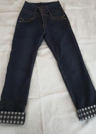 Зимние джинсы на флисе