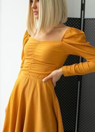 Платье на резинке с квадратным вырезом
