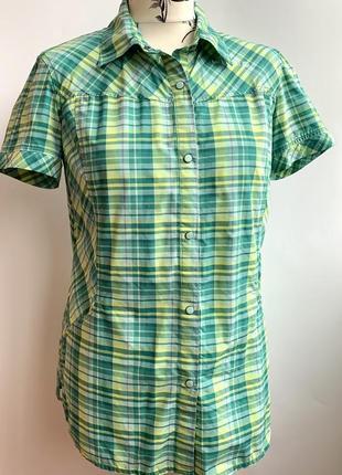 Легкая женская рубашка в клетку на кнопках merrill s