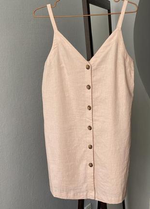 Льняное платье topshop xs-s
