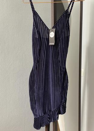 Бархатное платье boohoo xs-s велюровое