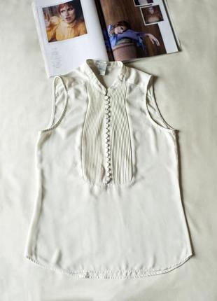 Летняя блузка топ молочного цвета женская h&m, размер xxs, xs