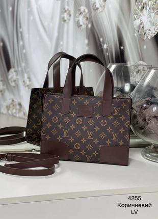 Коричневая сумка шоппер