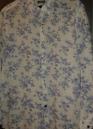 Рубашка в стиле   casual с оригинальным принтом  jeff banks, размер xl