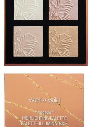 Wetnwild/палетка для лица/палетка хайлайтерів/хайлайтер/запечений хайлайтер