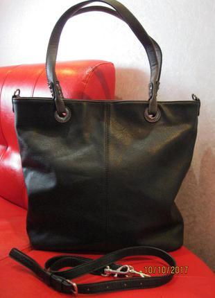 Продам фірмову італійську сумку шоппер alberto venturini. оригінал!!!! сумка 2в1