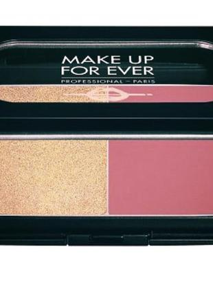 Mufe/make up for ever/powder duo/палетка для лица/хайлайтер/румяна