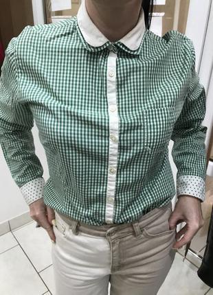 Оригинальная рубашка в зелёную клетку robert friedman 😍