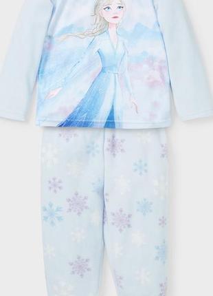 Флисовая пижама c&a frozen elza