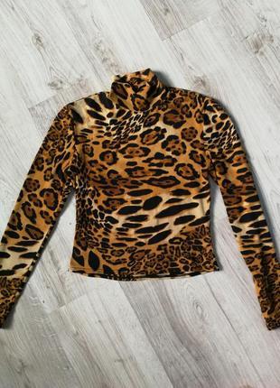Гольф кроп топ леопард принт
