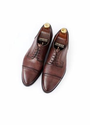 Santoni кожаные туфли оксфорды броги италия оригинал