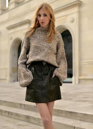 Шерстяное платье-свитер от anja rubik