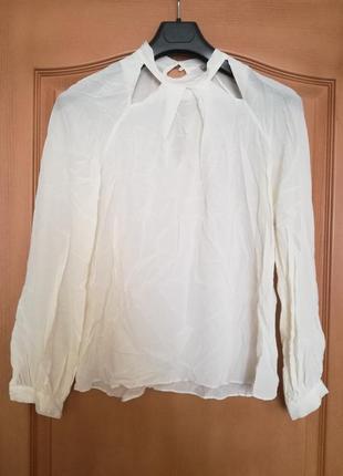 Шелковая молочная  блуза john levis by alice temperley