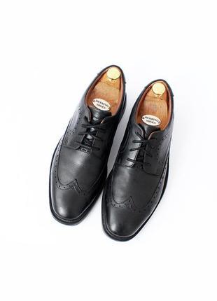 Clarks ортопедические кожаные туфли броги черные