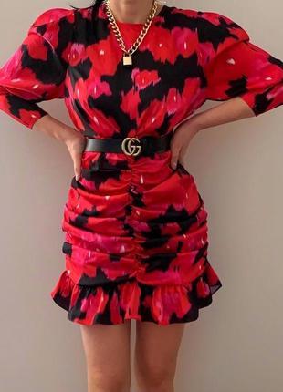 🔥🔥🔥шикарне трендове плаття з об'ємними рукавами