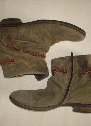 Кожаные полусапожки ботинки бренд vero cuoio