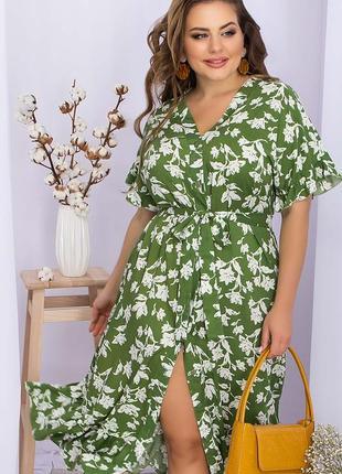 Красивое штапельное летнее платье
