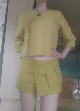 Костюм блузка и юбка - шорты м-ка