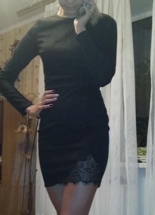 Платье из искусственного велюра s