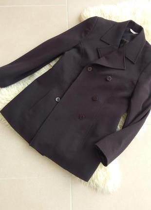 Удлиненный темно-коричневый пиджак george