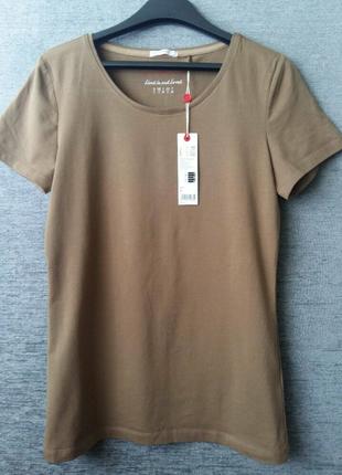 Esprit германия футболка новая хаки, милитари размер s