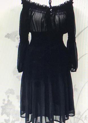 Zara.  шифоновое платье
