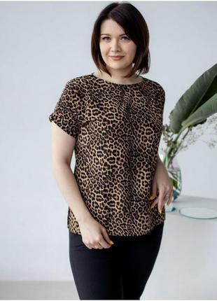 Легая блуза с разрезами по бокам