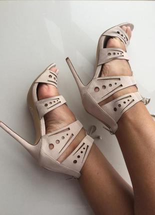 Пудровые босоножки туфли ✅ missguided