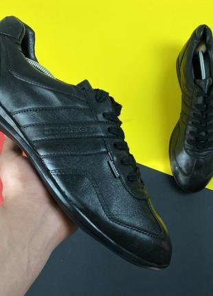 Кроссовки туфли tommy hilfiger stanley original черные 44 кожаные