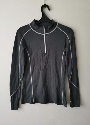 Лонгслив спортивная кофта с шерсти мериноса sherpa - м