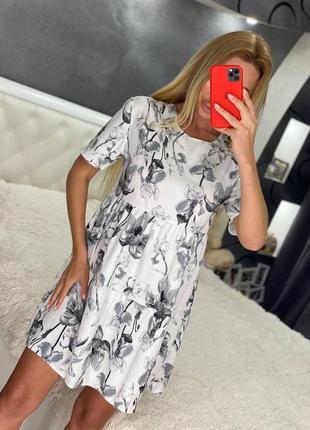 Женское летнее свободное хлопковое крепт платье платья дешево шикарное купить украина лето