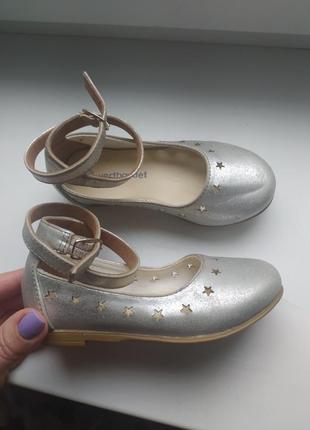 Кожаные туфли на девочку 24